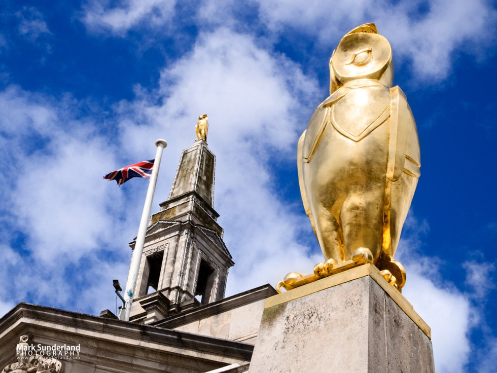 Golden Leeds Owl at The Civic Hall in Millennium Square, Leeds