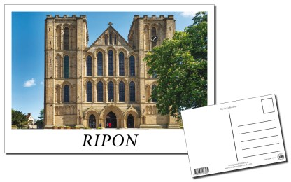 Ripon Cathedral Front Postcard
