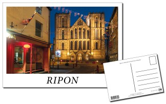 Ripon Cathedral at Dusk Postcard