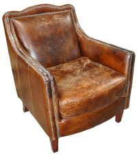 Vintage Cigar Leather Chair   Mark Tanner Construction