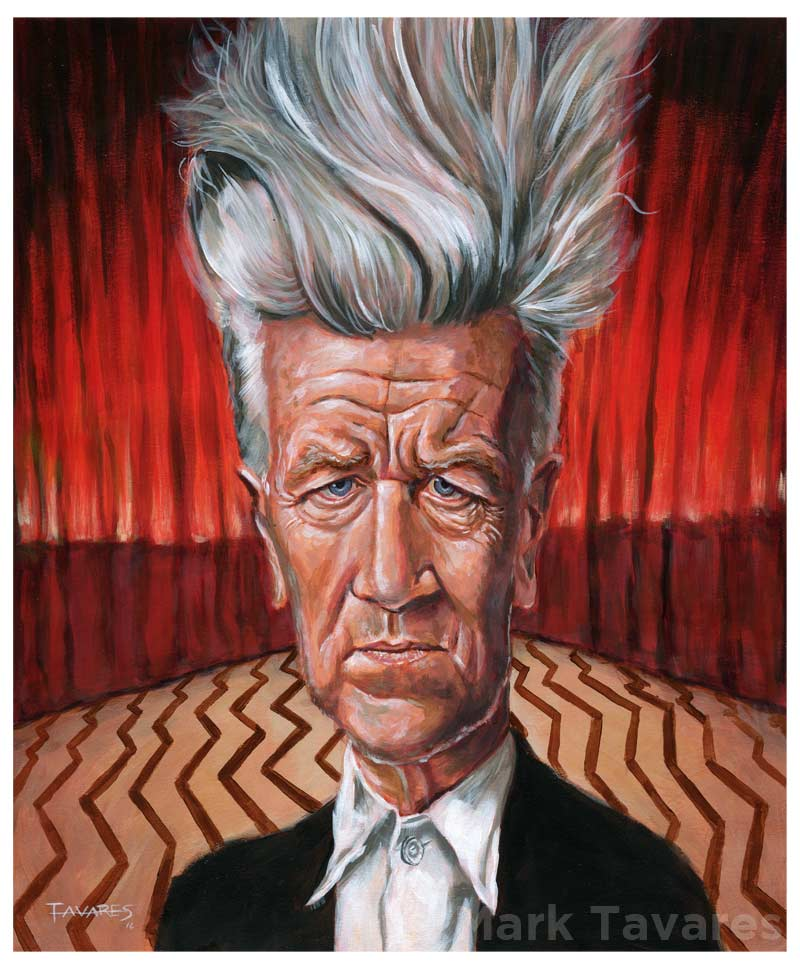 Happy Birthday David Lynch painting by Mark Tavares
