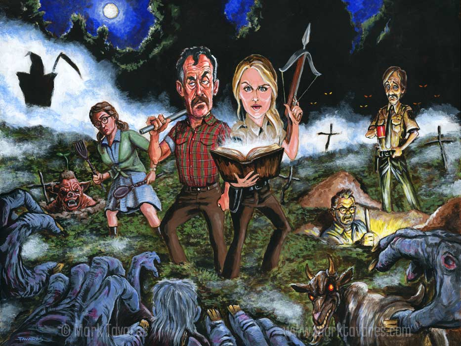 Stan Against Evil painting by Mark Tavares