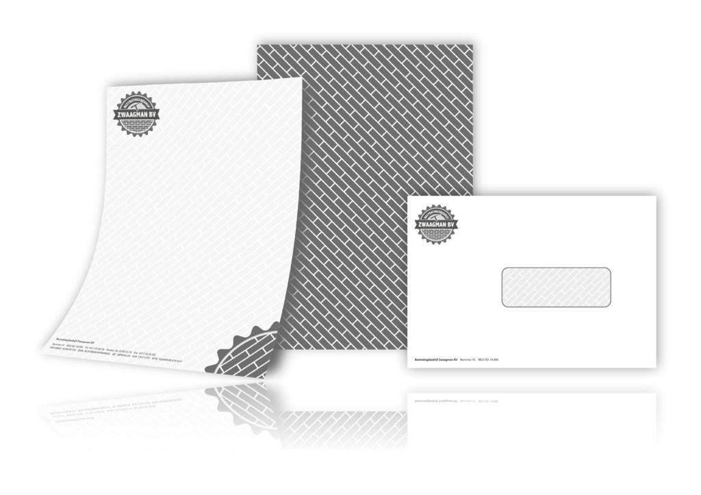 Huisstijl en briefpapier Bestratingsbedrijf Zwaagman
