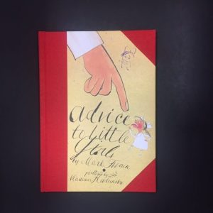Image of the book cover of Advice to Little Girls by Mark Twain and illustrated by Vladimir Radunsky.