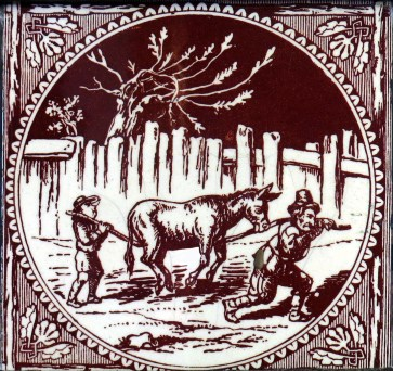 """A miller and his son were driving their donkey to a neighboring fair to sell him. They had not gone far when they met with a troop of women collected round a well, talking and laughing. """"Look there,"""" cried one of them, """"did you ever see such fellows, to be trudging along the road on foot when they might ride?' The old man hearing this, quickly made his son mount the donkey, and continued to walk along merrily by his side. Presently they came up to a group of old men in earnest debate. """"There,"""" said one of them, """"it proves what I was a-saying. What respect is shown to old age in these days? Do you see that idle lad riding while his old father has to walk? Get down, you young scapegrace, and let the old man rest his weary limbs."""" Upon this the old man made his son dismount, and got up himself. In this manner they had not proceeded far when they met a company of women and children: """"Why, you lazy old fellow,"""" cried several tongues at once, """"how can you ride upon the beast, while that poor little lad there can hardly keep pace by the side of you?' The good-natured miller immediately took up his son behind him. They had now almost reached the town. """"Pray, honest friend,"""" said a citizen, """"is that donkey your own?' """"Yes,"""" replied the old man. """"O, one would not have thought so,"""" said the other, """"by the way you load him. Why, you two fellows are better able to carry the poor beast than he you."""" """"Anything to please you,"""" said the old man; """"we can but try."""" So, alighting with his son, they tied the legs of the donkey together and with the help of a pole endeavored to carry him on their shoulders over a bridge near the entrance to the town. This entertaining sight brought the people in crowds to laugh at it, till the donkey, not liking the noise nor the strange handling that he was subject to, broke the cords that bound him and, tumbling off the pole, fell into the river. Upon this, the old man, vexed and ashamed, made the best of his way home again, convinced that by endeavori"""