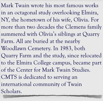 now approaching its third year the english elective writings of mark twain at seton hall preparatory school in west orange new jersey explores the life