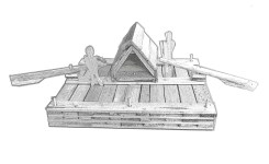Building A Model of Huck & Jim's Raft