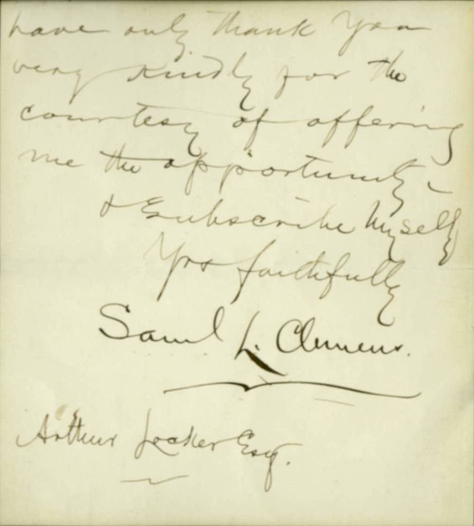 Letter from Samuel Clemens to Arthur Locker, 17 September [1872]
