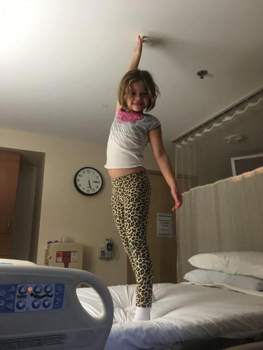 Aurora on my hospital bed
