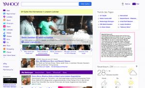 Bildschirmfoto Yahoo.de Startseite
