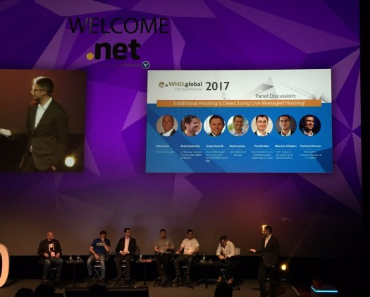 """Session """"Is traditional hosting dead"""" beim WHD.global 2017"""