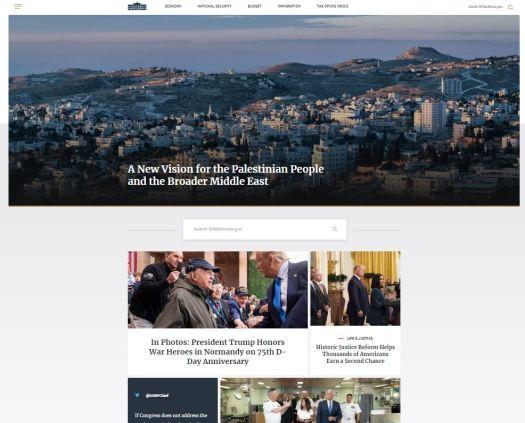 Screenshot Website Whitehouse.gov Startseite