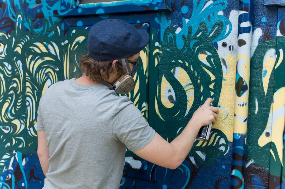 Stock Photography - Graffiti Painting