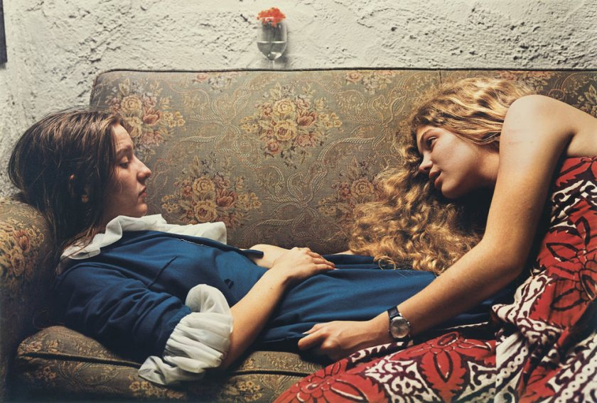 William Eggleston Girls on Sofa