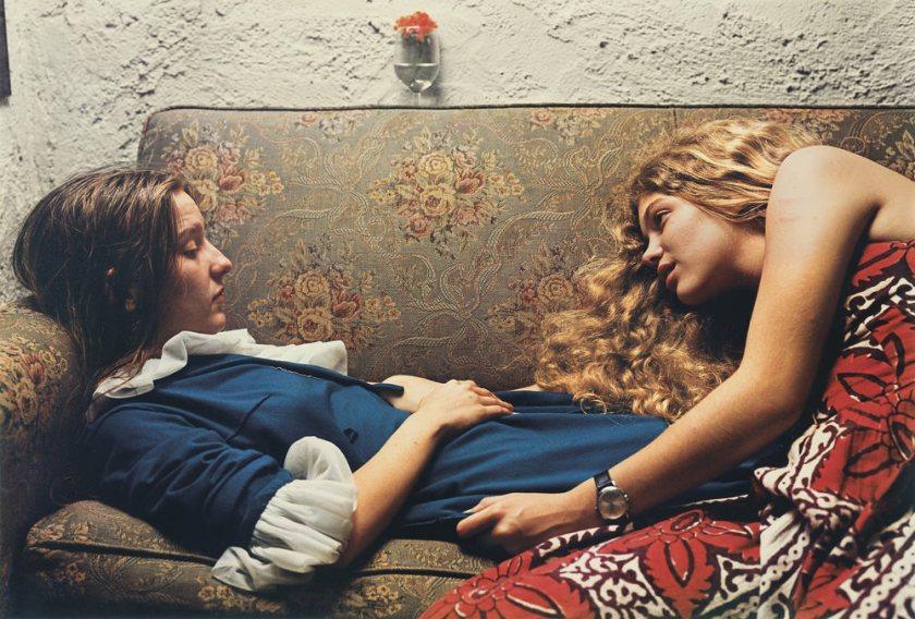 William Eggleston Girls on Sofa