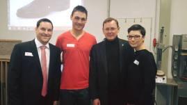 Mit Andre Fredrich, dem Geschäftsführer von Fredmax, Bodo Ramelow und meiner Frau Kathrin