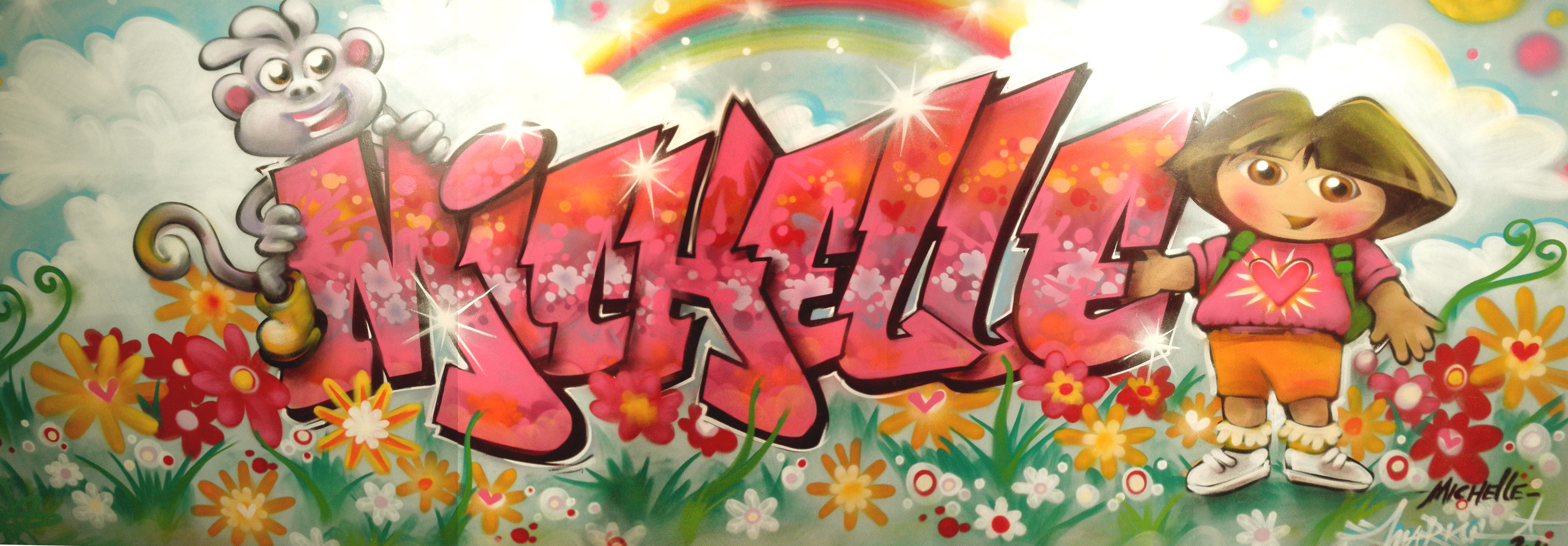 Baby peuterkleuterkamers  Muurschilderingen  Graffiti