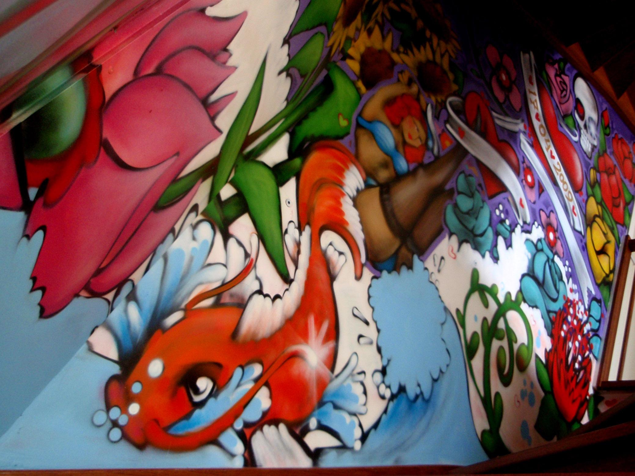 Huiskamers  werkkamers  hobbyruimtes  Muurschilderingen