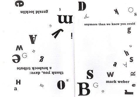Gerald Locklin   Mark Weber   Zerx Press No. 60