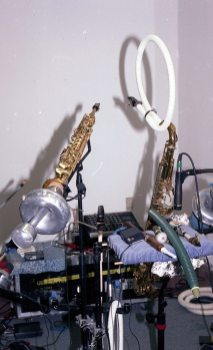 Mobile Saxophone & Mute Unit -- June 17, 1996 -- photo by Mark Weber