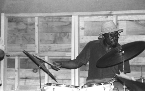 John Carter, Bobby Bradford, Stanley Crouch -- Sunday afternoon at The Little Big Horn -- April 24, 1977 -- photos by Mark Weber