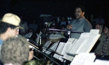 Bobby Bradford conducting -- April 29, 1978 -- photo by Mark Weber