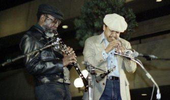 John Carter & Bobby Bradford -- April 22, 1978 -- Los Angeles -- photo by Mark Weber