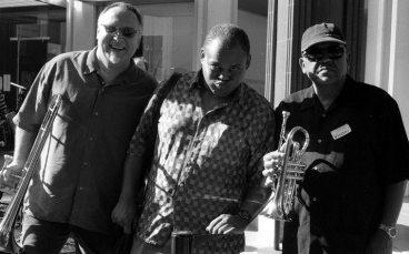 Michael Vlatkovich, William Roper, Bobby Bradford -- August 23, 2002 -- photo by Mark Weber
