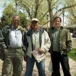 Bobby Bradford, Roberto Miranda, Chuck Manning -- April 12, 2004 -- Old Town Albuquerque, New Mexico, USA -- photo by Mark Weber