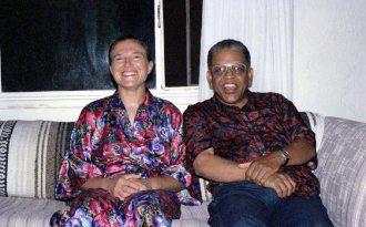 Janet Simon & Bobby Bradford -- July 19, 1993 -- Albuquerque -- photo by Mark Weber