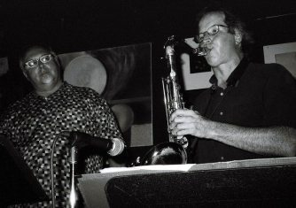 Bobby Bradford Mo'tet -- July 6, 2007 -- Cafe 322 -- Michael Vlatkovich, trombone; Chuck Manning, tenor saxophone -- photo by Mark Weber
