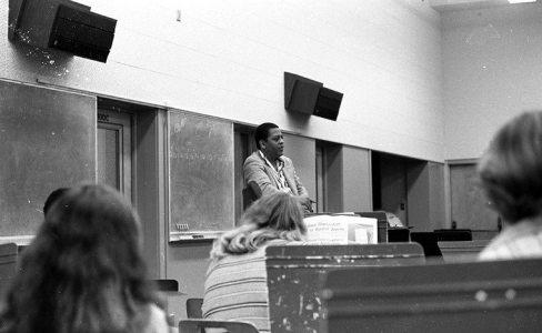 Professor Bradford -- Pasadena City College -- September 17, 1976 -- photo by Mark Weber