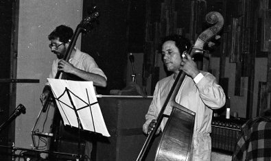 Mark Dresser and Roberto Miranda -- June 7, 1983 -- photo by Mark Weber