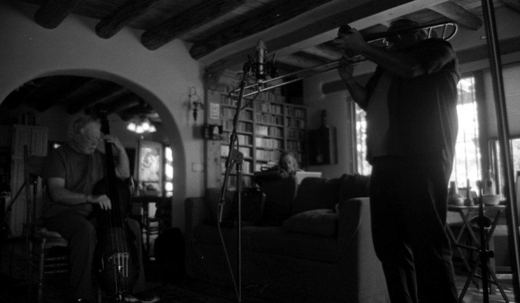 September 22, 2o12 --  Steve Schmidt in the corner with his recording rig -- photo by Mark Weber