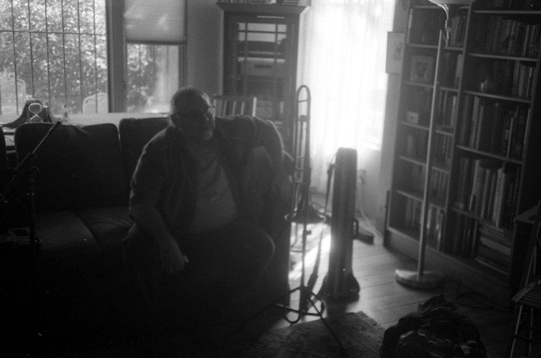 Michael Vlatkovich swirling afternoon of September 22, 2o12 -- photo by Mark Weber