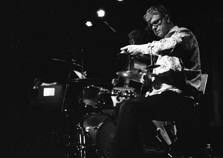 Trio M @ Outpost Performance Space ---- March 29, 2o12 --- Myra Melford, piano; Mark Dresser, bass; Matt Wilson, drumset ----- photo by Mark Weber