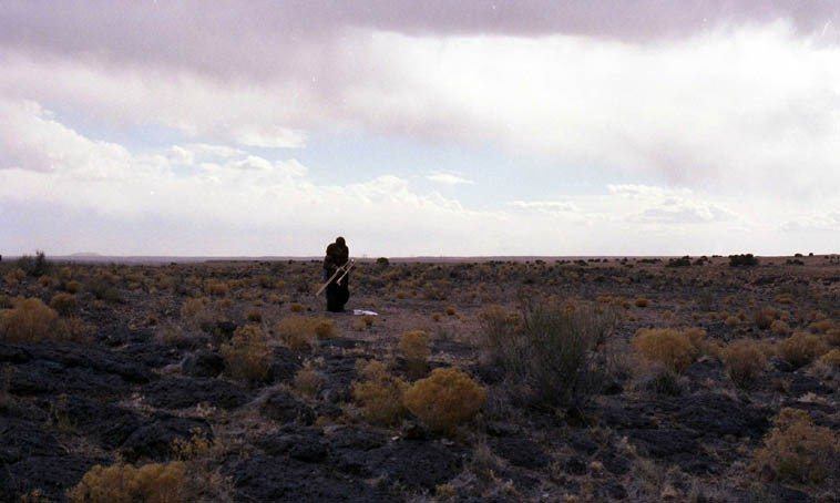 By the time I crawled up to the top of the mesa Roswell was putting away his trombone ---------- March 20, 2000 ----- photo by Mark Weber