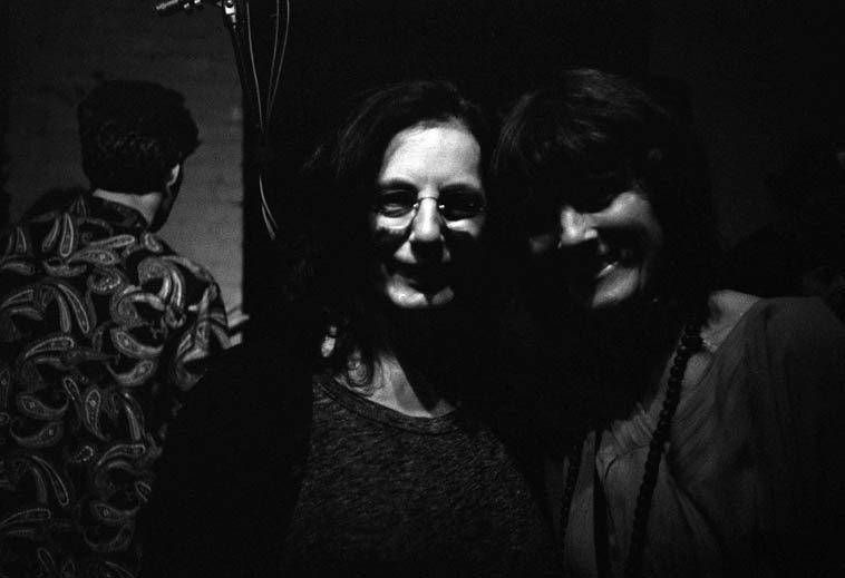 Alexis Parsons & Maryanne de Prophetis -- August 24, 2o14 (Nick Lyons paisley shirt) -- photo by Mark Weber
