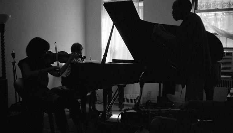 Eva Lindal, violin; Virg Dzurinko, piano; Daniel Carter, tenor -- August 20, 2o14 -- photo by Mark Weber