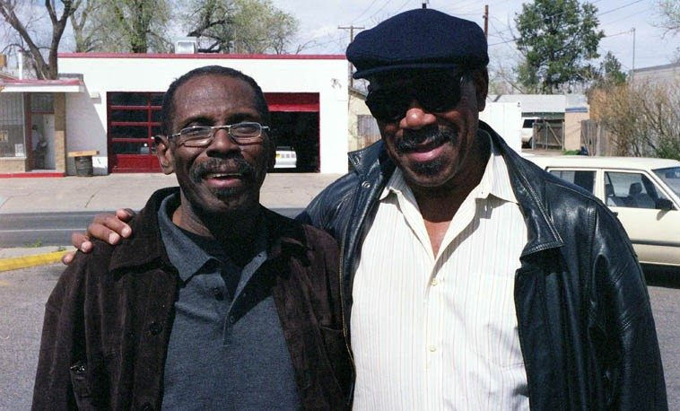 George Cables & Sonny Fortune in town for a Quintet gig with Frank Morgan -- This is their day  off and we were driving around checking out the sights -- Albuquerque -- May 24, 2003 -- photo by Mark Weber