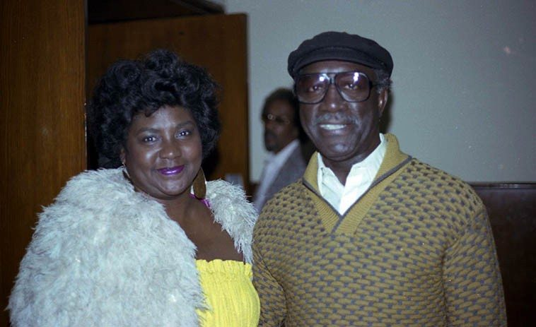 Melba Joyce and John Carter at Local 47 -- March 20, 1983 -- photo by Mark Weber -- Melba  sang on John's album ECHOES FROM RUDOLPH'S and shares the singing spot on the  present Count Basie Orchestra with her daughter Carmen Bradford