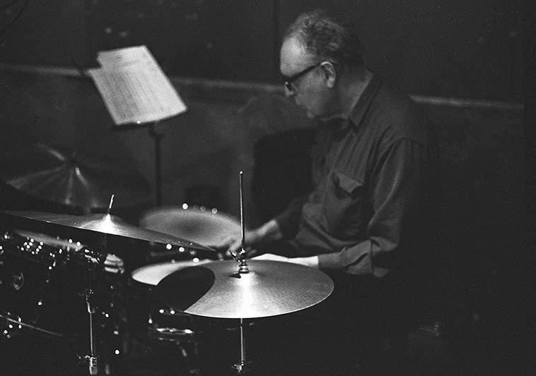 Billy Mintz, one of the greats -- May 7, 2o15 Manhattan -- photo by Mark Weber
