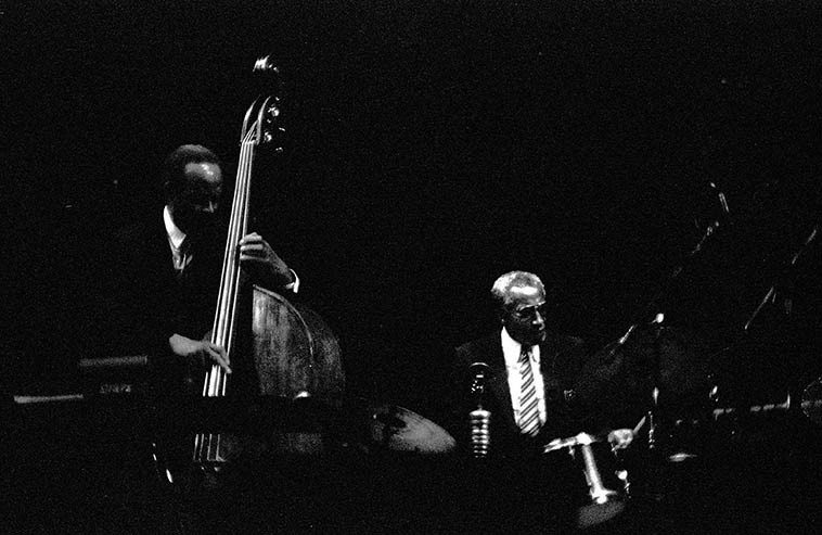 Percy Heath and Connie Kay -- April 10, 1987 -- Cleveland, Ohio -- photo by Mark Weber