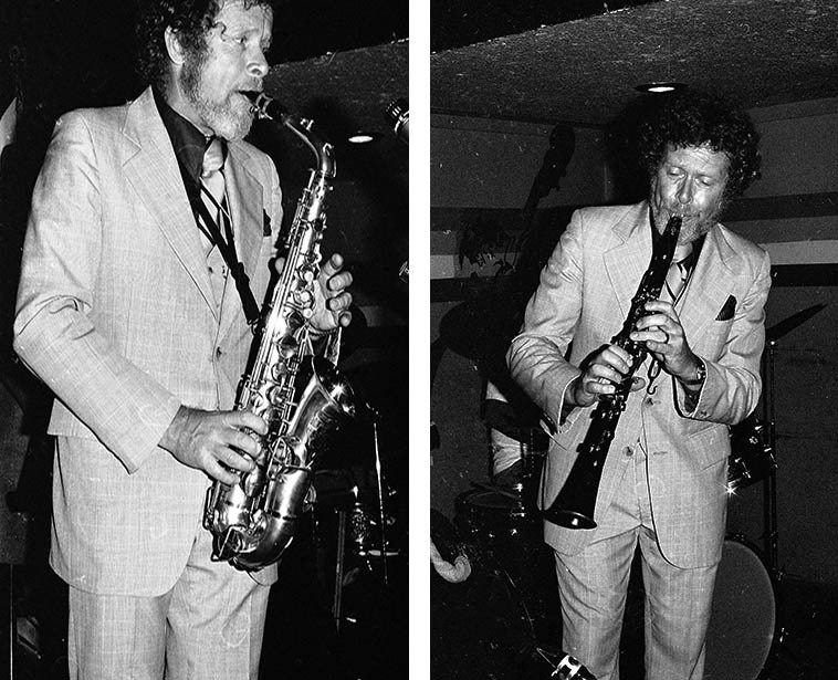Bob Wilber at Donte's, North Hollywood CA -- May 23, 1979 -- photo by Mark Weber