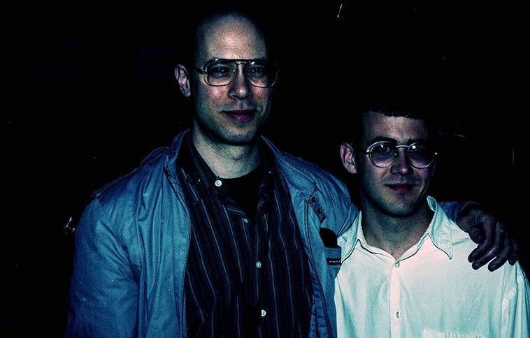 Two saxophonists: Walt Weiskopf & Robbie Wilkerson -- March 24, 1997 Albuquerque -- photo by Mark Weber