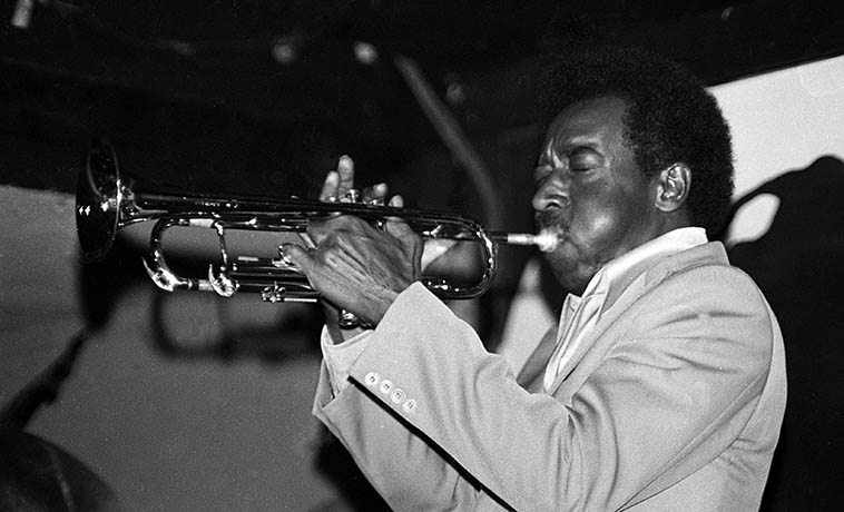 Blue Mitchell -- July 10, 1977 at Donte's, North Hollywood -- photo by Mark Weber