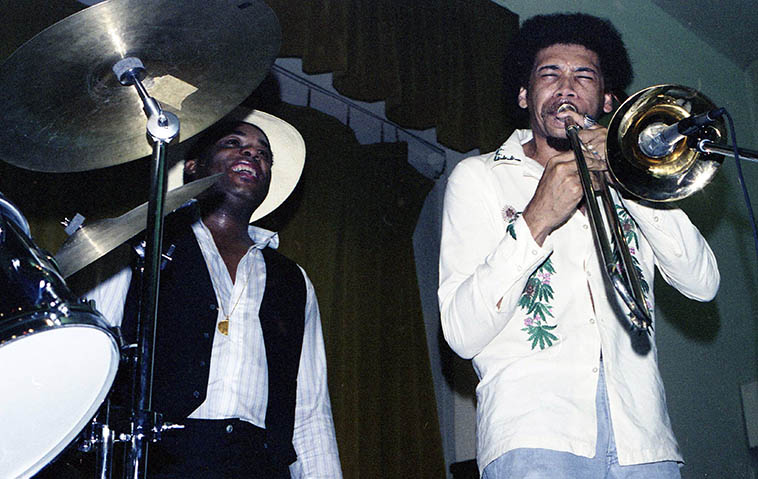 Freddie Hubbard and Phil Ranelin -- June 10, 1979 Los Angeles -- photo by Mark Weber