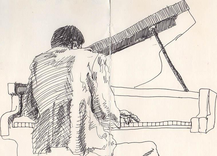 HORACE TAPSCOTT from Kirk Silsbee's sketchbook -- 1980s Los Angeles