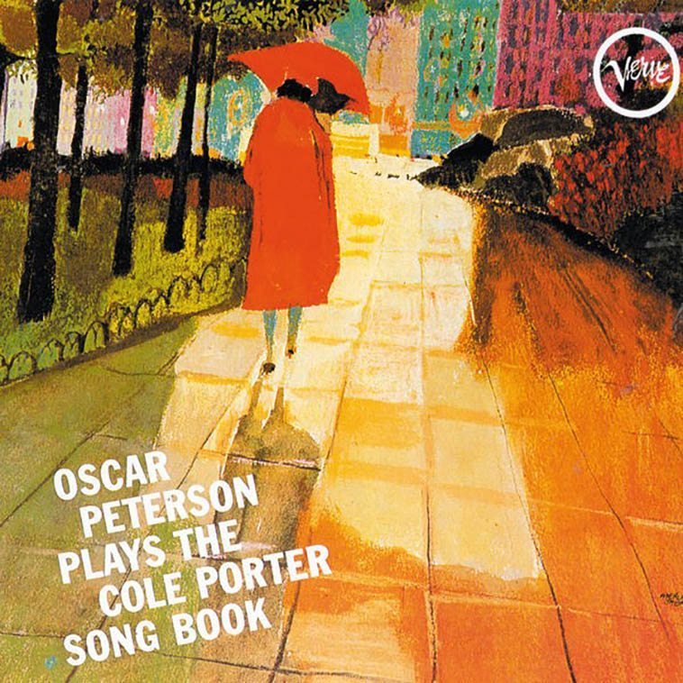 "Oscar Peterson album cover art by Merle Shore Joan Didion probably wouldn't talk to me because I have never read Henry James, oh, I keep a copy of Washington Square about and have nosed around in it off & on over the years, I did read Willa Cather's stories from Washington Square, does that count? I read his brother's book several times The Varieties of Religious Experience, does that count? I suppose it is highly doubtful that Henry James and Edward Hopper bumped into each other on the Square, their lives didn't overlap by much, but who doesn't like Nighthawks at the Diner? ---- The one image that keeps with me from Cather is of discarded broken umbrellas she sees out her window blowing around Washington Square, the convention being in New York to buy a $2 umbrella from these magical people that appear out of nowhere during rainstorms like mushrooms, but they seem to have a one-time-use life span and they break ---- Conversely, I still have the umbrella I bought, a good one, back in 1976 in San Francisco (when we were there to escape the smog of L.A.), I rebuilt or rather re-wired part of the mechanism and therefore it still serves, has a slip sleeve with a zipper, also good as a cane, that I might need yet someday in that capacity ----- Where I grew up you didn't need umbrellas, I can't recall ever being acquainted with an umbrella until I moved away, oh, it rains in Southern California, like the song insists: It never rains in Southern California, it pours, baby, it pours -- cats & dogs ------ But then, it never rained that much in San Francisco, either, even as one wishes for a good scouring absolution of the streets, like Portland, a good clean rain-washed city, or Vancouver, too, (Seattle's a little grungy) ------- So, I don't remember the occasion for buying an umbrella in San Francisco, maybe it was just too good a deal to turn away from? Even if we didn't have that much dough those years ---------- Anyway, the idea of discarded umbrellas is foreign to me, it's a New York thing -- Janet's sisters who live on 113th have a basket of umbrellas at their door, probably all bought from those Magical People of the Sudden Downpours, ""Here, Mark, take an umbrella!"" I don't want to be bother'd, ""I'll just jump under a fruit stand if it starts,"" I say, ""and have an apple,"" not remembering that when it starts raining in New York it never stops ---- (Every two or three years I re-read Joan Didion's masterpiece Slouching Towards Bethlehem (1968) ---- Album cover (above) by Merle Shore is pure poetry, how come almost all the other art forms have more poetry than poetry itself?)"