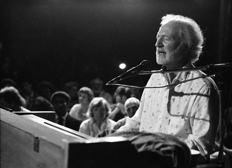 Mose Allison -- Cain Park, Cleveland Heights, Ohio -- July 3, 1987 -- photo by Mark Weber